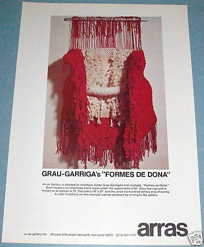 1976 Josep Grau-Garriga Formes De Dona Vintage 1976 Art Ad