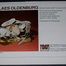 Claes Oldenburg Vintage 1971 Art Ad Advert Advertisement