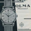 Olma Watch Company Vintage 1960 Swiss Ad Suisse Advert Horlogerie Numa Jeannin