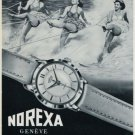 1956 Norexa Watch Company Switzerland Vintage 1956 Swiss Ad Suisse Advert Horlogerie Horology