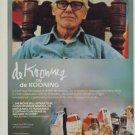 Willem de Kooning 1982 Art Ad Advert de Kooning on de Kooning Advertisement