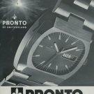 1974 Pronto Watch Company L Maitre & Fils Noirmont Switzerland Vintage 1974 Swiss Ad Suisse Advert