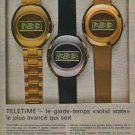 Gruen Watch Company Neuchatel Switzerland Vintage 1974 Swiss Ad Suisse Advert
