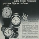 Girard-Perregaux Watch Company GP Quartz Vintage 1974 Swiss Ad Suisse Advert