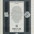 1965 Revue Watch Company Waldenburg Switzerland 1965 Swiss Ad Suisse Advert Revue Thommen SA