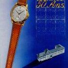 1951 Technos Watch Company 50 Year Anniversary Vintage 1951 Swiss Ad Suisse Advert Switzerland