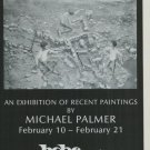 Michael Palmer Vintage 1981 Art Exhibition Ad