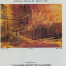 Merrill Mahaffey Canyon Wall 1981 Art Exhibition Ad