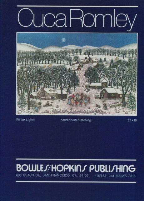 Cuca Romley Winter Lights Vintage 1981 Art Ad Advert