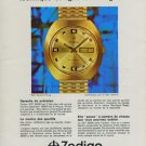 1970 Zodiac Watch Company Switzerland Zodiac SST 36000 Advert 1970 Swiss Ad Suisse Advert