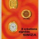 Swiza Clock Company Delemont Switzerland Vintage 1970 Swiss Ad Suisse Advert