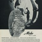 Mido Watch Company Switzerland Mido Multi Star Advert Vintage 1970 Swiss Ad Suisse Advert