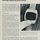 1970 Hamilton Watch Company Pulsar Vintage 1970 Swiss Magazine Article Technique