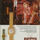 Camy Watch Company Switzerland Vintage 1970 Swiss Ad Suisse Advert Horology