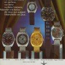 1970 Aquastar Watch Company Switzerland Swiss Print Ad Suisse Publicite Montres Schweiz