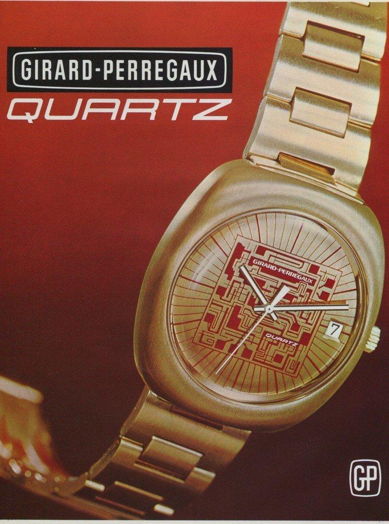 1972 Girard-Perregaux Watch Company  Vintage 1972 Swiss Ad Suisse Advert