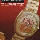 1972 Girard-Perregaux Watch Company  Vintage 1972 Swiss Ad Suisse Advert