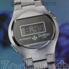 1976 Zodiac Watch Company Zodiac Astrodigit LCD Advert Vintage 1976 Swiss Ad Suisse Advert