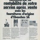 Ebauches SA Neuchatel Switzerland Vintage 1976 Swiss Ad Suisse Advert Horology