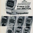 Arctos Watch Company Pforzheim Germany Vintage 1976 Swiss Ad Suisse Advert Philipp Weber KG