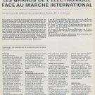 Les Grands de l'Electronique Face au Marche International 1976 Swiss Magazine Article Fairchild