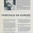 Fairchild Watch Company Michel Pitteloud Interview Vintage 1976 Swiss Magazine Article by H. Marquis