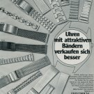1977 Friedrich Stahl KG Watch Band Company Germany Vintage 1977 Swiss Ad  Suisse Advert