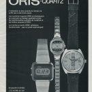 Oris Watch Company Vintage 1977 Swiss Ad Suisse Advert Horology Switzerland
