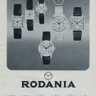 1968 Rodania Watch Company Rodania S.A. Grenchen Switzerland Vintage 1968 Swiss Ad Suisse Advert