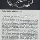 Le Balancier Moderne Vintage 1968 Swiss Magazine Article Horlogerie Horology