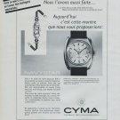 Cyma Watch Company Navystar Advert Vintage 1968 Swiss Ad Suisse Horology Cyma SA