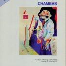 Chambas Vintage 1983 NY Art Exhibition Ad