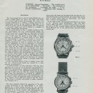 1950 The Index-Mobile Split Seconds Chronograph 1950 Swiss Magazine Article by B. Humbert