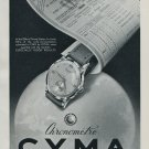 Cyma Watch Company Switzerland 1951 Swiss Ad Suisse Advert Horlogerie Horology