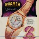 1951 Roamer Watch Company Switzerland Meyer & Studeli S.A. Vintage 1951 Swiss Ad Suisse Advert