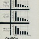 1955 Omega Watch Company Switzerland Vintage 1955 Swiss Ad Suisse Advert Horlogerie