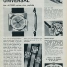 1963 Universal Geneve Watch Company Switzerland Vintage 1963 Swiss Ad Suisse Advert