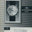 1963 Mondia Watch Company Switzerland Vintage 1963 Swiss Ad Suisse Advert Horlogerie Horology