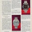 Certina Watch Company Grenchen Switzerland Vintage 1969 Swiss Ad Suisse Advert