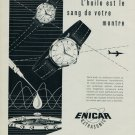 1955 Enicar Watch Company Ultrasonic Vintage 1955 Swiss Ad Suisse Advert Horlogerie