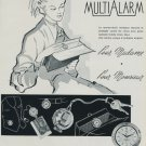 Paul Buhre Watch Company MultiAlarm Vintage 1956 Swiss Ad Suisse Advert Horology