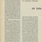 1956 Les Exportations d'Horlogerie en Juin et Juillet 1956 Swiss Magazine Article Horology