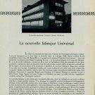 1956 La Nouvelle Fabrique Universal Watch Company Vintage 1956 Swiss Magazine Article