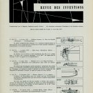 Brevets Suisses 1955 Swiss Horology Patents Vintage 1956 Swiss Magazine Article