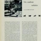 1956 Un Cadran Solaire a La Foire de Bale + Exhibit Pics 1956 Swiss Magazine Clipping