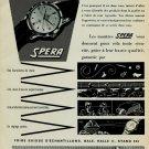Spera Watch Company Tramelan Switzerland Vintage 1956 Swiss Ad Suisse Advert