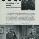 Ed. Heuer Watch Company Vintage 1954 Swiss Magazine Article  Suisse Horlogerie
