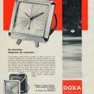 1964 Doxa Clock Company Doxa Grafic Reveil Advert Vintage 1964 Swiss Ad Suisse Advert Horlogerie