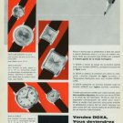 Doxa Watch Company Switzerland Vintage 1965 Swiss Ad Suisse Advert Horlogerie