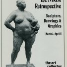 1983 Sculptor Zuniga Mother and Child Vintage 1983 Retrospective Art Exhibition Ad Advert